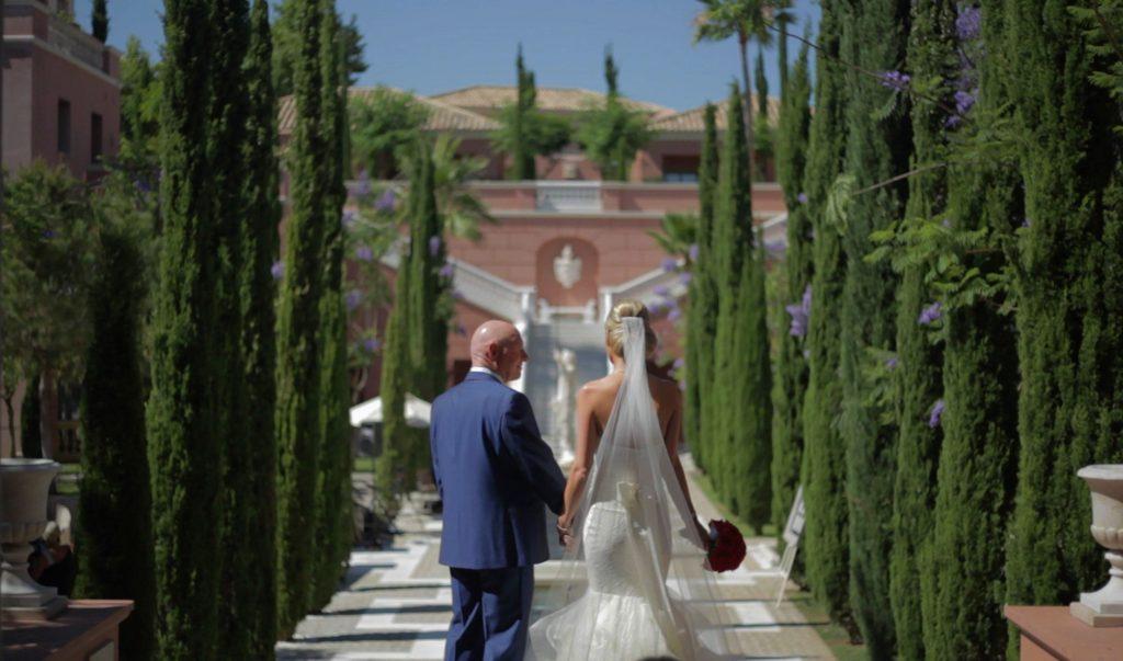 Destination wedding videography Spain